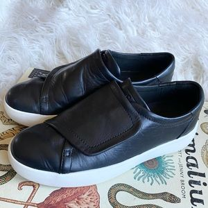 Cole Haan grandpro black leather rally sneakers